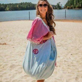 Seersucker Beach Bags