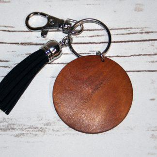 Wooden Tassel Keychains